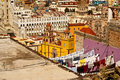 Old world ways in guanajuato mexico – february heritage site and historic city locals traditionally hang washing on Stock Photography