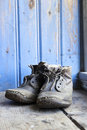Old worn boots Royalty Free Stock Photos