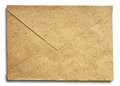 Old worn grunge brown paper envelope Royalty Free Stock Photos