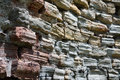 Old wornout walls brick wallsof the medieval church Royalty Free Stock Images