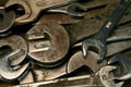 Old wrenches Royalty Free Stock Images