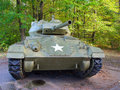 Old WWII  tank with US military star on the front. Royalty Free Stock Photo
