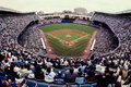 Old yankee stadium bronx ny vintage look at the yankees in the image taken from color slide Royalty Free Stock Photography