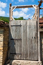 Old Yard Door Stock Photography