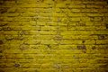 Old yellow brick wall in buenos aires argentina Stock Images