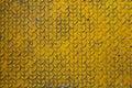 The old  yellow diamond steel metal sheet background Royalty Free Stock Photo