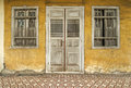 Old yellow heritage house, Penang, Malaysia Royalty Free Stock Photo
