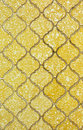 Old yellow wall tile background and texture Stock Photography