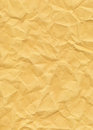 Old Yellowed Crinkled Paper Royalty Free Stock Photo
