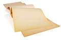Old yellowed paper faded sheets of album for drawing on a white background Royalty Free Stock Images
