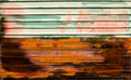 Old zinc rusty corrugated metal wall texture background close up grunge grunge paint Royalty Free Stock Images
