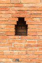 Olde brick wall city wall in chiangmai thailand Royalty Free Stock Image