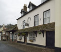 The olde house dunster high street somerset Stock Images