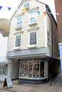 Olde worlde georgian shoppe photo of an with glass bowed front and weather boarded shop front in rochester kent photo taken th Stock Photography
