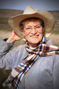 Older Country Lady Royalty Free Stock Photo