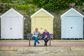 Older couple on the bench in Bournemouth Royalty Free Stock Photo