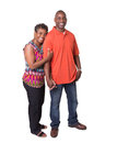 Older couple full length portrait of an standing close isolated Royalty Free Stock Images