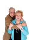 Older couple hugging . Royalty Free Stock Photo