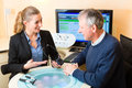 Older men pensioner hearing problem make hearing test may need hearing aid Royalty Free Stock Photography