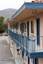 Older motel walkway Royalty Free Stock Photo