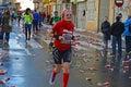 Older Runners Enjoying Marathon Race Royalty Free Stock Photo