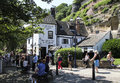 Oldest inn in england nottingham july ye olde trip to jerusalem so called the this beautiful pub is built into the cliff Stock Photography