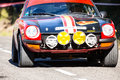 The oldest rally in spain costa brava classic cars barcelona Royalty Free Stock Photography