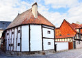 The oldest timber framing house Stock Image