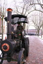Oldfashioned steam locomotive Royalty Free Stock Photo