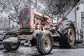 Oldfashioned Tractor Royalty Free Stock Photo
