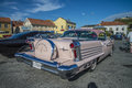 Oldsmobile eighty eight the picture is shot at the fish market in halden norway Royalty Free Stock Photo
