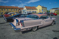 Oldsmobile eighty eight the picture is shot at the fish market in halden norway Royalty Free Stock Image