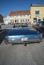 Oldsmobile ninety eight convertible photo is shot at the fish market in halden norway one day in march Royalty Free Stock Image