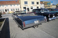 Oldsmobile ninety eight convertible photo is shot at the fish market in halden norway one day in march Stock Photography