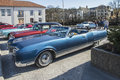 Oldsmobile ninety eight convertible photo is shot at the fish market in halden norway one day in march Royalty Free Stock Photo