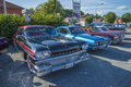Oldsmobile ninety eight the picture is shot at the fish market in halden norway Stock Images