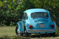 Oldtimer blue car Royalty Free Stock Photo