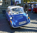 Oldtimer bmw isetta at the oldtimercity in frankfurt am main germany oct meeting on oct germany a presented by event Royalty Free Stock Photos