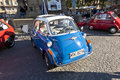 Oldtimer bmw isetta at the oldtimercity in frankfurt am main germany oct meeting on oct germany a presented by event Royalty Free Stock Photo