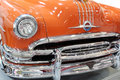 Oldtimer car chrome bumper detail Stock Image