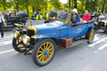 Oldtimer car landsberg germany july rally for at least years old antique cars with delage tourer built at year photo taken on july Royalty Free Stock Photo