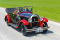Oldtimer car landsberg germany july rally for at least years old antique cars with hotchkiss am open tourer built at year photo Stock Image