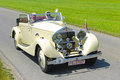 Oldtimer car landsberg germany july rally for at least years old antique cars with rolls royce hp cabriolet built at year photo Stock Images