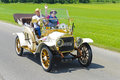 Oldtimer car landsberg germany july rally for at least years old antique cars with white ga built at year photo taken on july in Stock Image