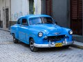 Oldtimer car on the street of havana cuba it is estimated that there are some cars in cuba and of them are classic cars called Stock Photography