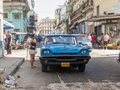 Oldtimer car on the street of havana cuba it is estimated that there are some cars in cuba and of them are classic cars called Stock Photo