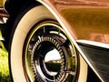 Oldtimer wheel closeup of of buick electra car Stock Image