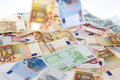 Olik euro för sedlar Arkivfoton
