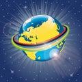 Olimpijska taśma wokoło planety earth vector illus Obraz Stock