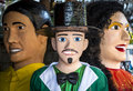 Olinda s carnival costume famous giant doll costumes of festival in pernambuco brazil Stock Images